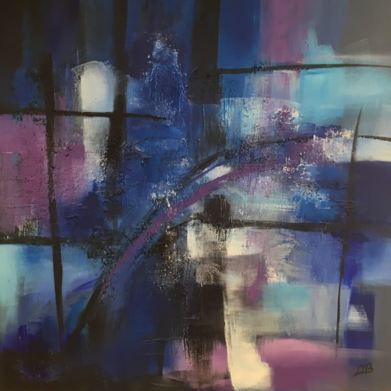 Aliene Ameln - Blue Abstract